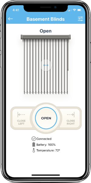 Automated Smart Vertical Blinds